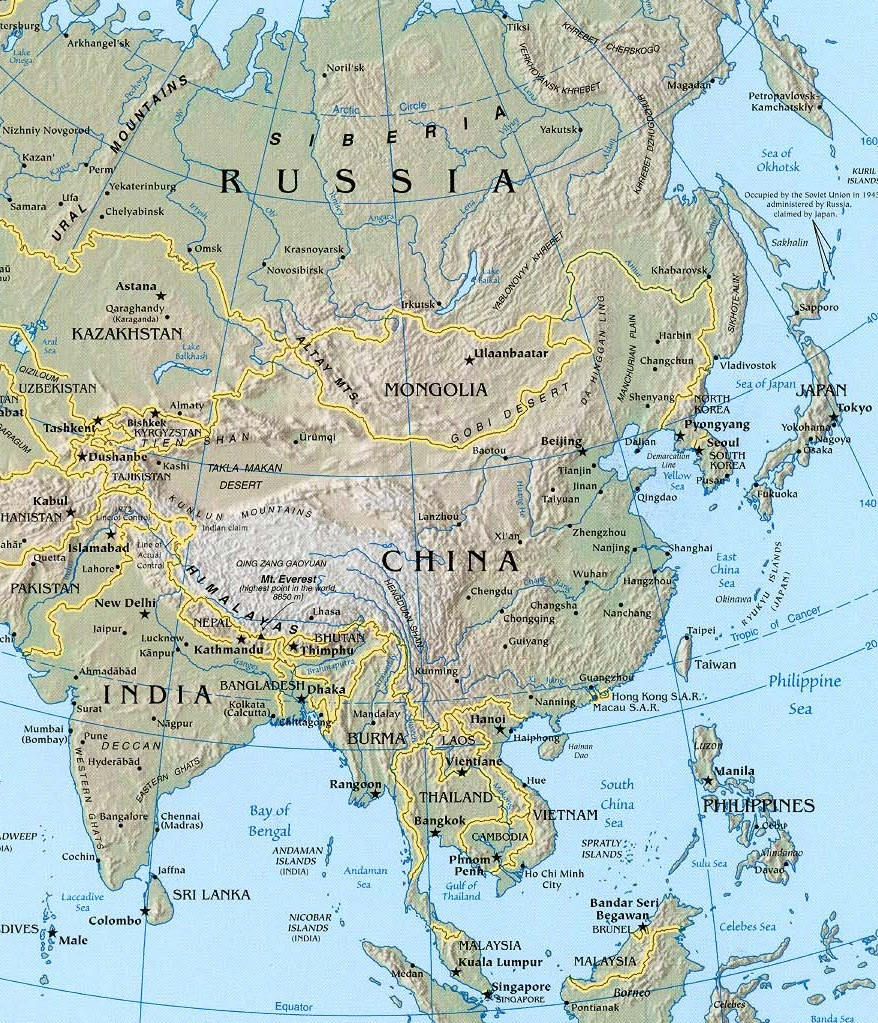 Return to asia maps