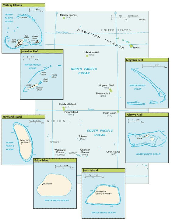 Howland Island On World Map.Howland Island Information