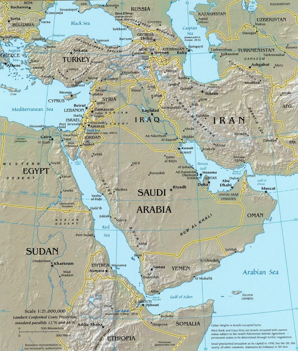 Return to middle east maps
