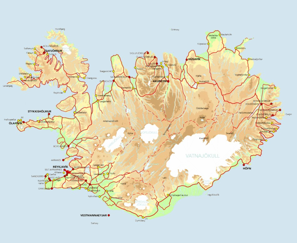 Iceland On World Map Car Interior Design