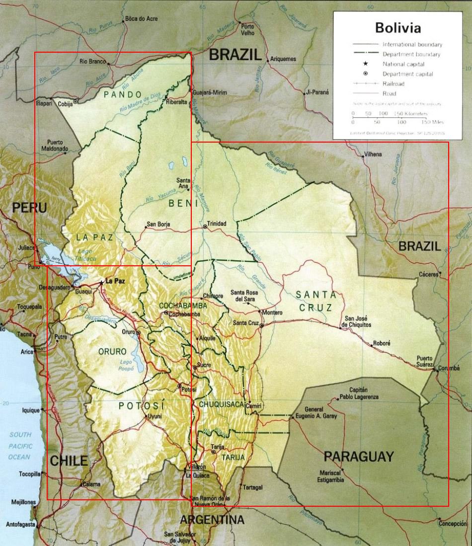 Bolivia Maps - Bolivia map