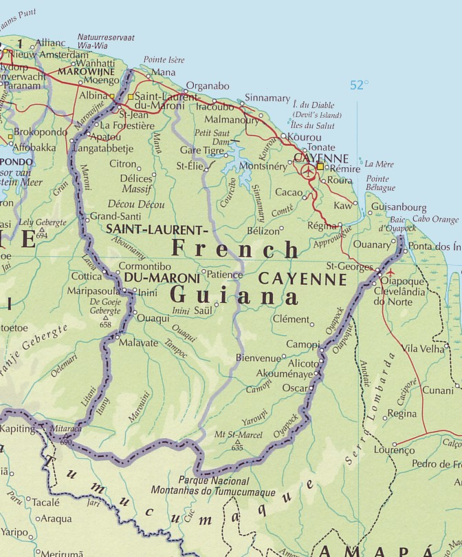 French Guiana Maps - Map of french guiana world