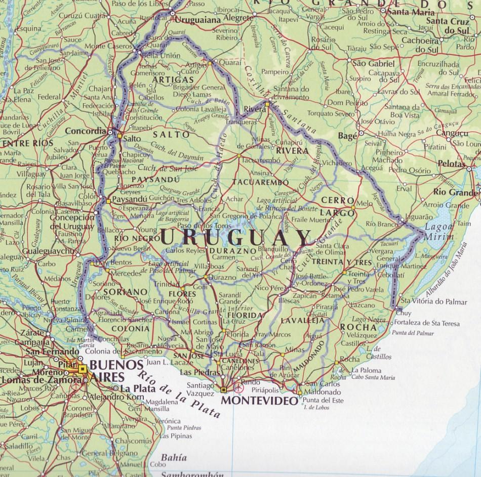 return to South America Maps