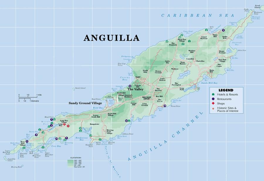 Anguilla maps